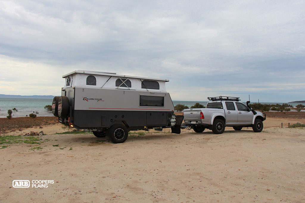 Touring in South Australia with the D-Max and AOR Van Combination